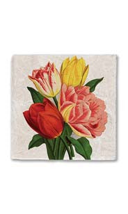 Bouquet of Tulips Stone Magnet