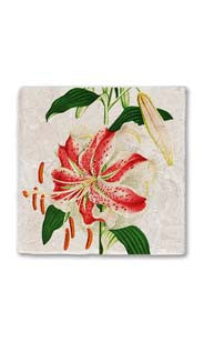 Blooming Lily Stone Magnet