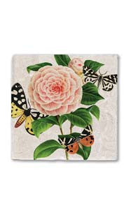 Butterflies & Camellia Stone Magnet