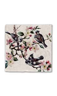 Blossoms & Birds Stone Magnet