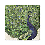 Regal Peacock Absorbent Ceramic Coaster