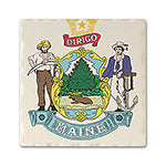 Maine Absorbent Ceramic Coaster