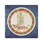 Virginia Absorbent Ceramic Coaster