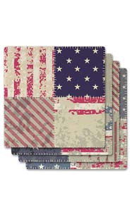Americana Quilt Absorbent Ceramic Coaster Set