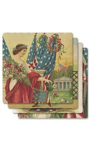Lady Liberty Absorbent Ceramic Coaster Set