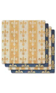 Fleur De Lis Pattern Absorbent Ceramic Coaster Set