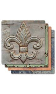 Fleur De Lis Absorbent Ceramic Coaster Set