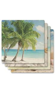 Beachside Absorbent Ceramic Coaster Set