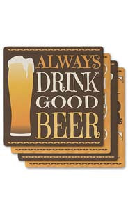 Beer Absorbent Ceramic Coaster Set