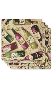 Wine Bar Absorbent Ceramic Coaster Set