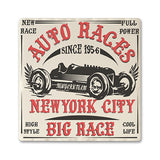 Auto Races NYC Absorbent Ceramic Coaster