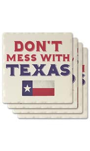 Don't Mess With Texas Absorbent Ceramic Coaster Set