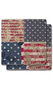 Stars & Stripes Stone Coaster Set