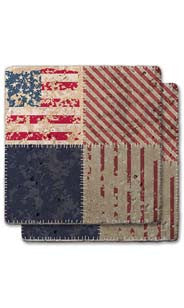 Flag & Stripes Stone Coaster Set