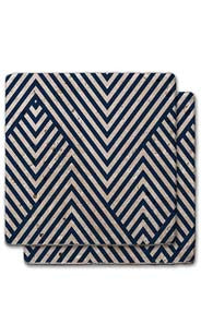 Striped V-Shape Stone Coaster Set