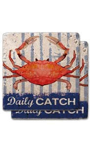 Daily Catch Stone Coaster Set 2