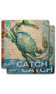 Daily Catch Stone Coaster Set 1