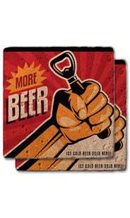 More Beer Stone Coaster Set