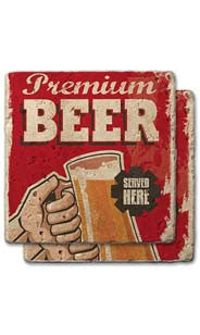 Premium Beer Stone Coaster Set