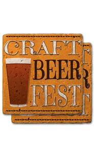 Craft Beer Fest Stone Coaster Set