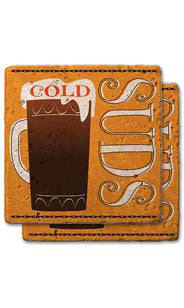 Cold Suds Stone Coaster Set