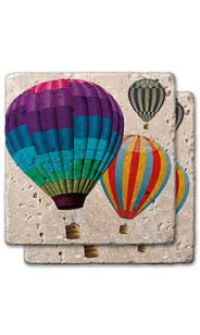 Up, Up And Away Stone Coaster Set