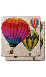 Day Of Ballooning Stone Coaster Set
