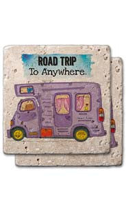 Road Trip To Anywhere Stone Coaster Set