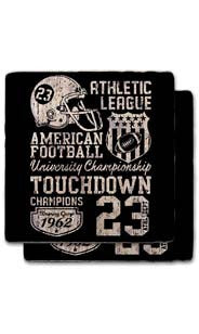 Touchdown 23 Stone Coaster Set