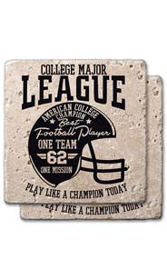 College Major League Stone Coaster Set