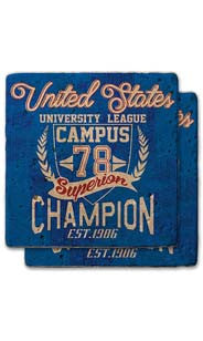 '78 Champion Stone Coaster Set