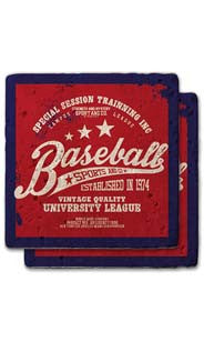 Baseball University Stone Coaster Set