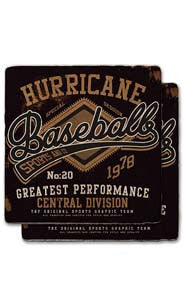 Hurricane Baseball Stone Coaster Set