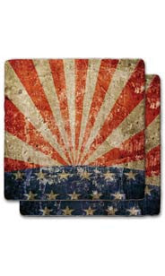 USA Rays Stone Coaster Set