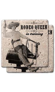 Rodeo Queen Stone Coaster Set