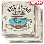 Coffee Café Absorbent Ceramic Coaster Set