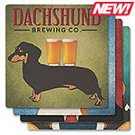 Dogs Brewing Co. Absorbent Ceramic Coaster Set