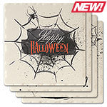 Happy Halloween Absorbent Ceramic Coaster Set