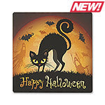 Halloween Cat Absorbent Ceramic Coaster
