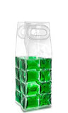 Green Wine Chill™ Gel Tote - bottle cooler