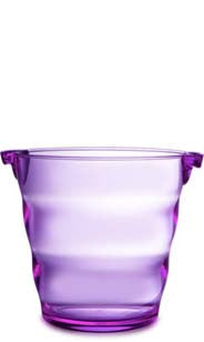 Swirl Acrylic Ice Bucket - Purple