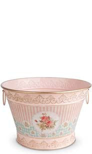 Floral Vintage Chic Ice Bucket - Medium