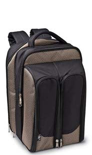 Tweed Wine Picnic Backpack for Two