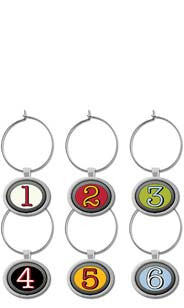 Enamel Numbers My Glass® Charms
