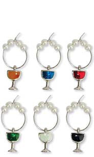 Colored Wine Glass My Glass® Charms