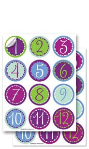 Whimsy Numbers Glass Stick'ems™