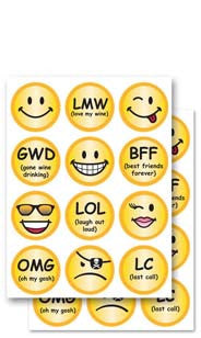 E-Chat & Smileys Glass Stick'ems™
