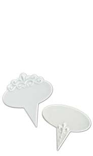 Fleur De Lis & Scroll Oval Cheese Markers