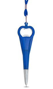 Blue Pen Bottle Opener