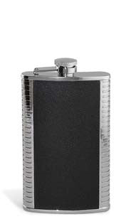 Silver & Black Flask - 9oz.